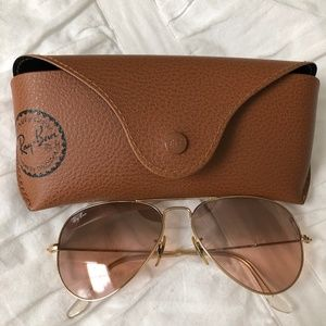 Ray Ban Sunglasses Aviator Gold Womens RB3025